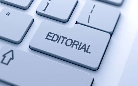 Editorial button on keyboard with soft focus  photo