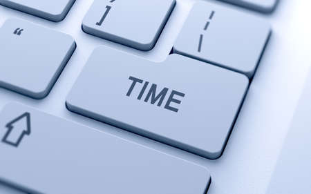 timezone: Time text button on keyboard with soft focus