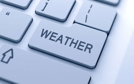 Weather word button on keyboard with soft focus Stock Photo - 16218460
