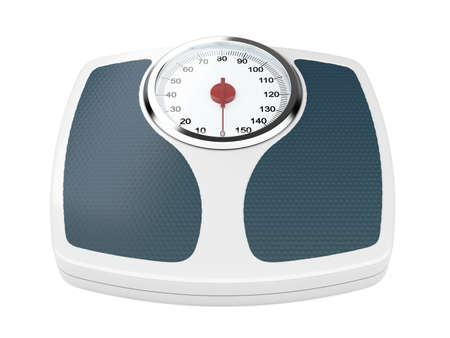 3d illustration of bathroom weight scale on white background illustration