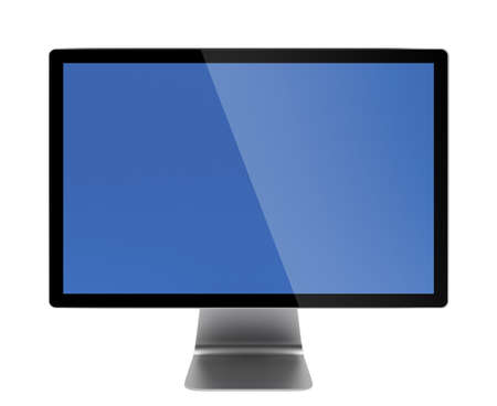 3d illustration of front view computer screen isolated illustration
