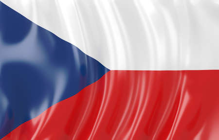 3d illustration of Czech flag. Wavy texture Stock Illustration - 17581140
