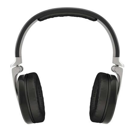 headphones: 3d illustration of headphones. Isolated on white background Stock Photo