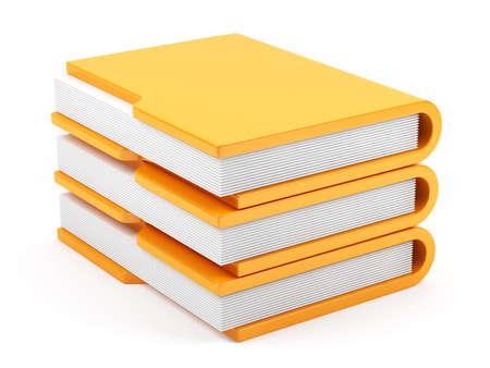 3d illustration of computer folders stack isolated on white background illustration