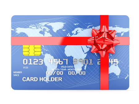 3d illustration of gift credit card concept illustration
