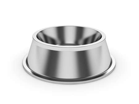 3d render of empty pets bowl isolated on white background photo