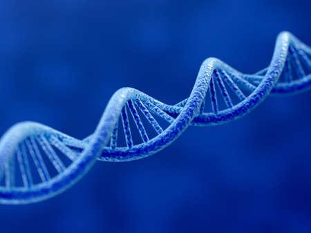 genetica: 3D rendering di DNA su sfondo blu