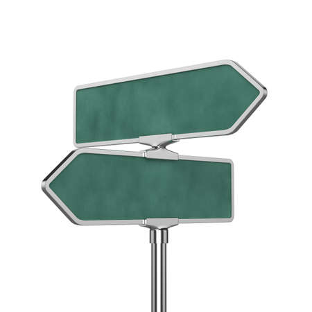 3d render of roadsign board isolated on white background photo