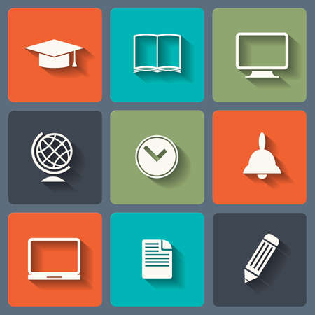 Education Flat icons for Web and Mobile Applications photo