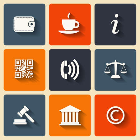 Business Flat icons for Web and Mobile Applications Stock Vector - 23798608