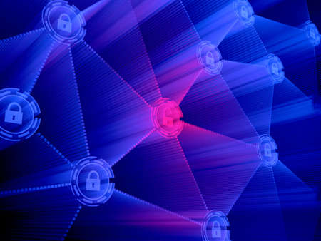 Concept of computer data encryption. Data protection. Security enhancement  版權商用圖片