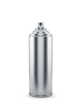 3d render of blank aluminum spray paint can photo