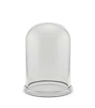 3d render of glass bell isolated on white background photo