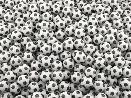 socca: 3d rendering di football background. Concetto di Sport