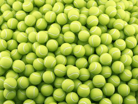 테니스 공 배경의 3d 렌더링입니다. 스포츠 컨셉