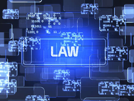 Future technology touchscreen interface. Law screen concept photo