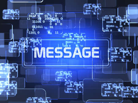 Future technology touchscreen interface. Message screen concept photo