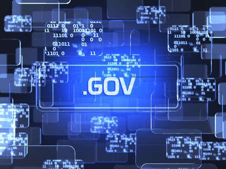 Technologie de l'avenir interface tactile bleu. concept de l'écran de gouvernement
