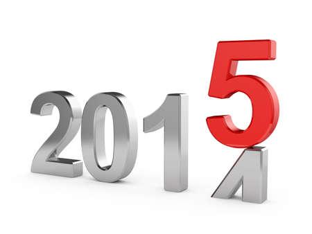 3d illustratie van 2015 concept van het Nieuwjaar