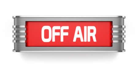 航空ショー: 白い背景で隔離オフ空気記号の 3 d レンダリング