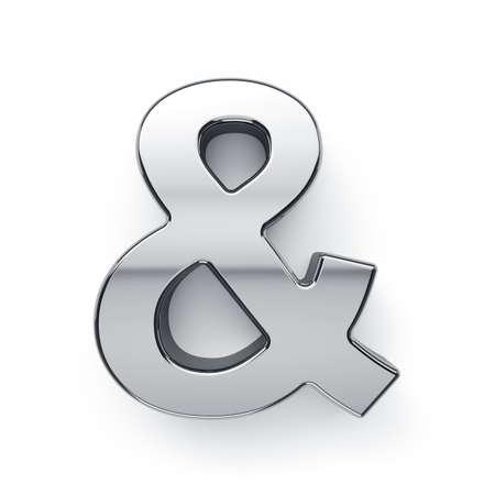 letras cromadas: 3d rinden de metálico carta signo simbol - y. Aislado en el fondo blanco Foto de archivo
