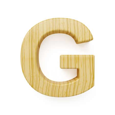 g alphabet: Wood alphabet letter symbol - G. Isolated on white background