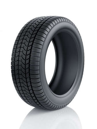 winter tyre: 3d render of high detaled winter tyre isolated on white background