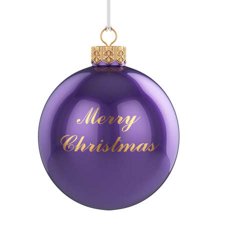 3d render of Christmas ball isolated on white background photo