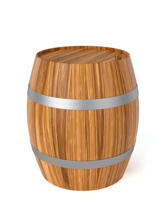 ferment: 3d render of wine barrel isolated on white background