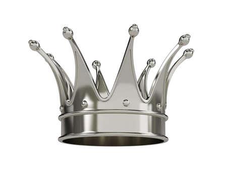 corona real: Corona real de oro aislado en fondo blanco Foto de archivo