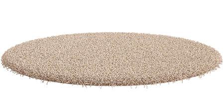 白い背景に分離された円形のカーペットの 3 d レンダリング 写真素材