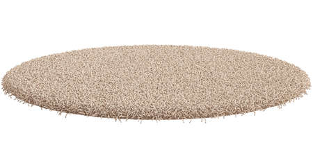 3d render of round carpet isolated on white background 版權商用圖片