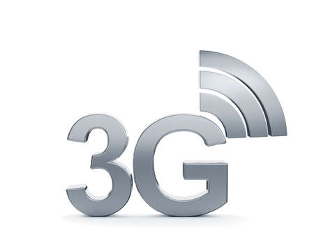 3g: 3d renderin of 3G cellular high speed data connection concept icon Stock Photo