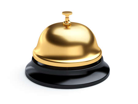 3d rendering of reception bell isolated on white background photo