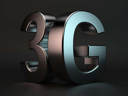 3d rendering of 3G cellular high speed data connection concept
