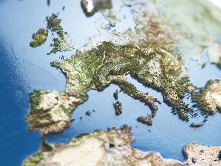 Conceptual view of Europe map with soft focus. Elements of this image furnished by NASA Stock Photo