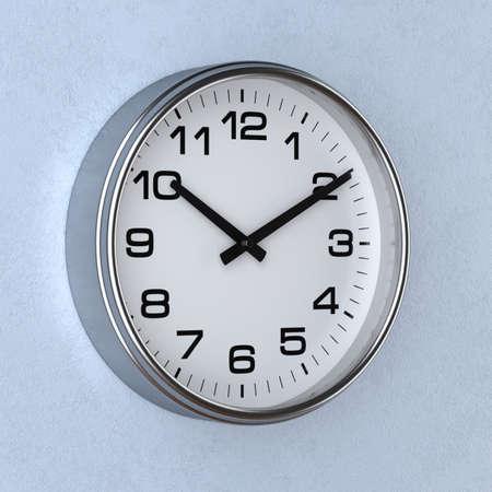 時計と壁の時計の時間の概念の 3 d レンダリング