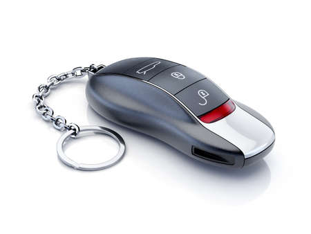 Modern sport car key isolated on white background