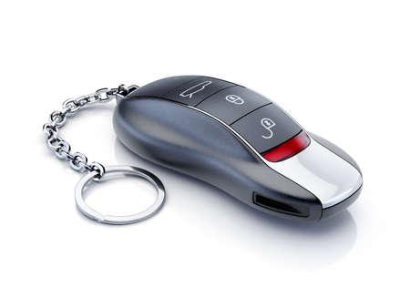 llaves: Llave del coche del deporte moderno aislado en el fondo blanco Foto de archivo