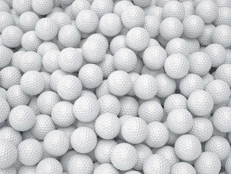 golfball: 3d render of golf ball background. Sport concept Stock Photo