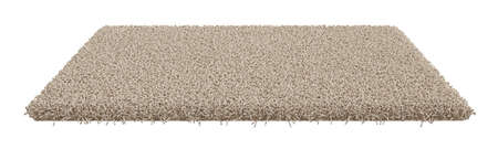 3d render of rectangle carpet isolated on white background