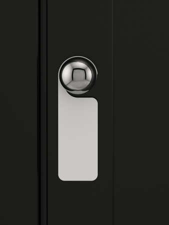3d render of empty label on a door handle for your text
