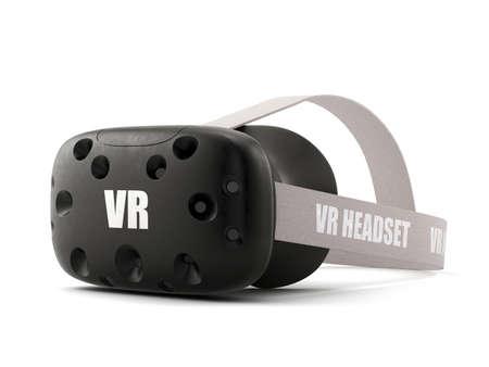 virtual reality simulator: VR virtual reality headset isolated on white background Stock Photo