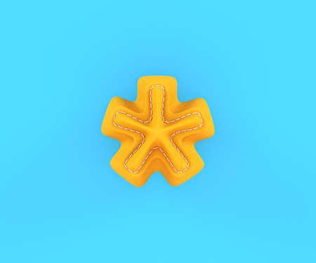 multiplication: Digit number alphabet yellow leather skin texture multiplication sum sing mark letter . 3d rendering illustration