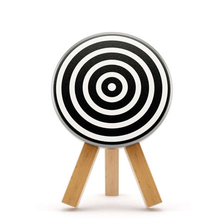 dart board: Target board isolated on white background. 3d rendering illustration