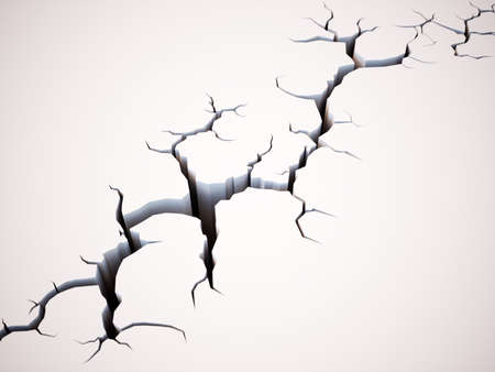 Earth ground crack concept. 3d rendering illustration