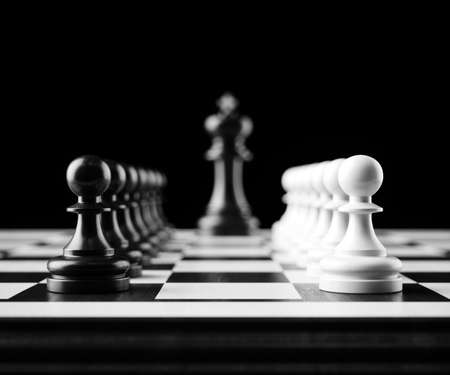 Leader and teamwork concept for success. Chess business concept. Team leader boss concept. 3d rendering illustration Stok Fotoğraf
