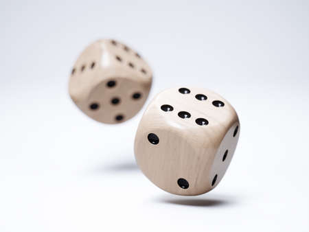 3d render of wood dices isolated on white background Stock Photo
