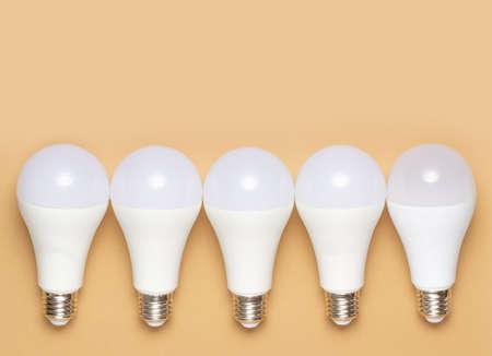 Energy saving light bulbs. Ecology care concep Standard-Bild