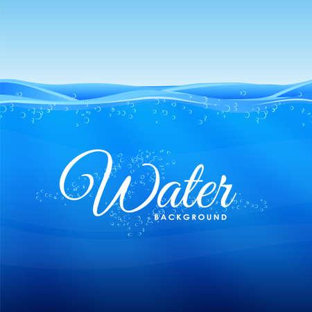 Vector illustration. Blue clean Under Water background. Illustration